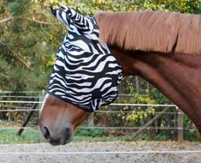 24H Kerbl Maska chroniąca przed owadami Zebra